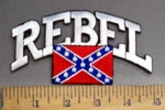 4060 R - REBEL - With Confederate Flag - Embroidery Patch