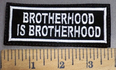 4065  L - Brotherhood Is Brotherhood - Red - Embroidery Patch