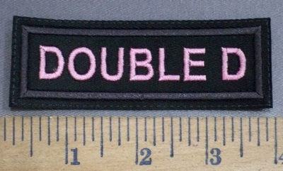 4070 L - Double D - Embroidery Patch