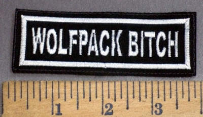 4071 L - Wolfpack Bitch - Embroidery Patch