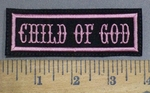 4075 L - Child Of God - Pink - Embroidery Patch