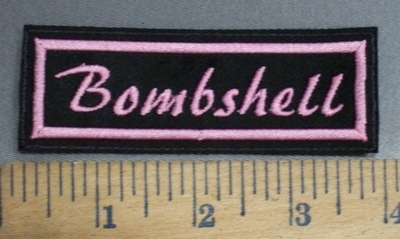 4077 L - Bombshell- Pink - Embroidery Patch