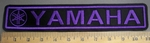 4079 L- Yamaha With Logo - Purple - Embroidery Patch