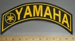 4083 L - Yamaha With Logo - Top Rocker - Yellow - Embroidery Patch