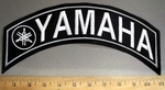 4085 L - Yamaha With Logo - Top Rocker- White - Embroidery Patch