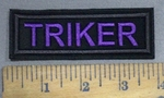 4086 l - Triker - Purple - Embroidery Patch