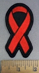 4088 S - Red Ribbon - Aids - Substance Abuse - Vasculitis - Embroidery Patch