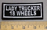 4099 L - Lady Trucker 18 Wheels - Embroidery Patch
