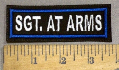 4100 L - Sgt. At Arms - Embroidery Patch
