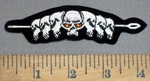 4103 S - Spear With Skull Heads - Embroidery Patch