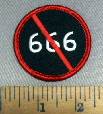 4104 S -  NO 666 - Round - Embroidery Patch