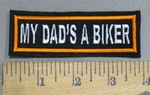 4108 L - My Dad's A Biker - Orange - Embroidery Patch