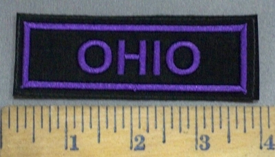 4113 L - Ohio - Purple - Embroidery Patch