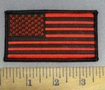 4117 CP - Red And Black Flag - 3.5 Inch - Embroidery Patch