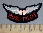 4125 S - Bush Pilot  Wings - Embroidery Patch