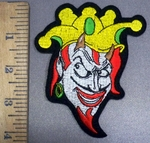 4126 S - Devil - Jester - Joker - Embroidery Patch
