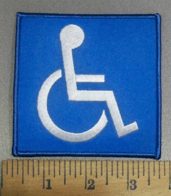 4130 S - Handicap Sign - Embroidery Patch
