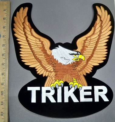 4135 S - Triker - Bronze Eagle - XL Back Patch - Embroidery Patch