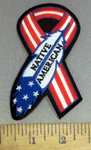 4152 S - Native American Flag Ribbon - Embroidery Patch
