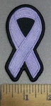 4153 S - Lavender Ribbon - All Cancers - Embroidery Patch