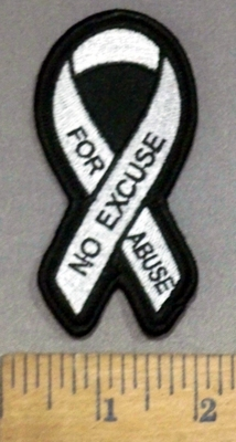 4156 S - No Excuse For Abuse - Embroidery patch