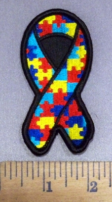 4159 S - Autism Ribbon - Embroidery Patch