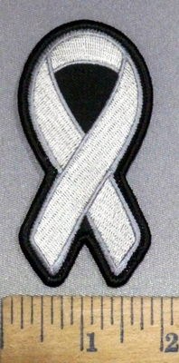 4162 S - Mental Illness - Diabetes - Gray Ribbon - Embroidery Patch