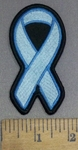 4163 S - Prostate Cancer - Baby Blue - Ribbon - Embroidery Patch