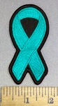 4167 S - Ovarian Cancer Ribbon - Embroidery Patch