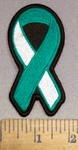 4168 S - Cervical Cancer Ribbon - Embroidery Patch