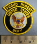 4171 S - Proud Parent - United States Navy - Embroidery Patch