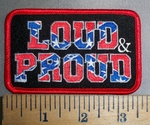 4188 R - Loud & Proud In Confederate Flag Print - Embroidery patch