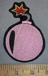 4198 L - Bomb - Pink - Embroidery Patch