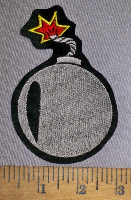 4199 L - Cannonball - Embroidery Patch