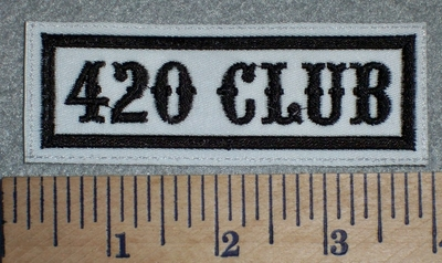 2674 L - 420 Club - White Background - Embroidery Patch