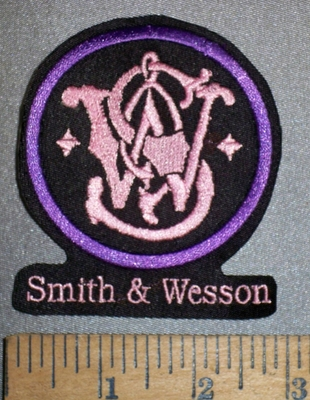 4200 L - Smith & Wesson Logo - Pink - Embroidery Patch