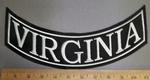 4205 L - Virginia Bottom Rocker - Embroidery Patch