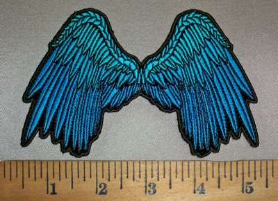 4209 CP - Small Blue Angel Wings - 5 Inch - Embroidery Patch