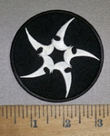 4215 CP - Ninja Star - Round - Embroidery Patch