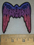 4227 CP -  Multicolored Stenciled Angel Wings - Embroidery Patch