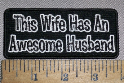 4229 CP - This Wife Has An Awesome Husband - Embroidery Patch