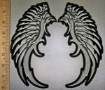 4234 CP - Broken Silver Wings - Back Patch - Embroidery Patch