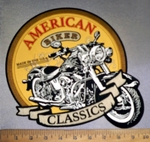 4239 CP - Classic Motorcycle - American Biker - Made In The USA - Back Patch - Embroidery Patch