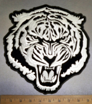 4243 CP - Roaring White Tiger - Back Patch - Embroidery Patch