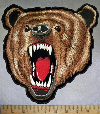 4244 CP -  Brown Grizzly Bear - Back Patch - Embroidery Patch
