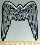 4247 CP - Long - Stenciled Angel Wings - Back Patch - Embroidery Patch