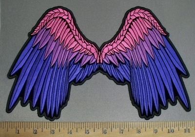 4249 CP - Multi- Colored Angel Wings - Back Patch - Embroidery Patch