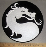 4250 CP - Chinese Dragon - Round - Back Patch - Embroidery Patch