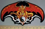 4251 CP - Evil Gargoyle With Yin And Yang Symbol - Back Patch - Embroidery Patch