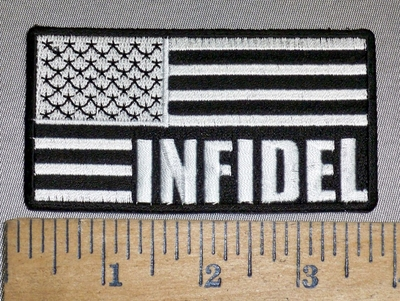 4261 CP -  Infidel - Blacked Out American Flag - Embroidery Patch